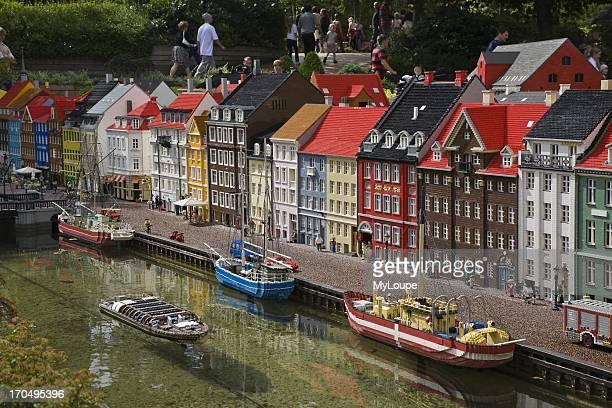Model of Nyhavn in Copenhagen Legoland Billund Jutland Denmark