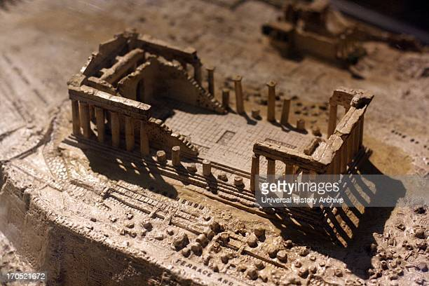 Model of the Acropolis ruins in Athens Greece made circa 1960 at the University of Birmingham