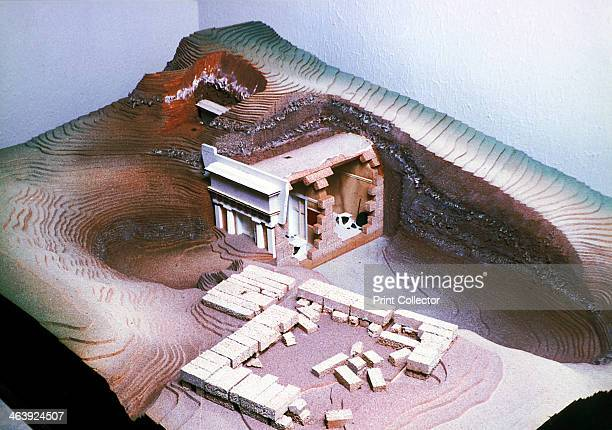 Model of the ancient Macedonian royal tombs Late 20th century reconstruction The royal house of Macedon which lasted from the 9th century BC4th...