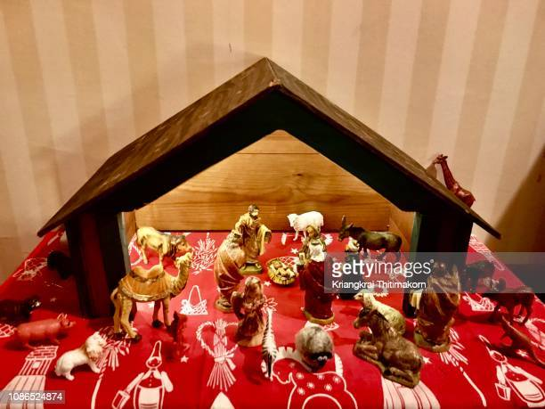 model of the birth of jesus. - three wise men stock photos and pictures