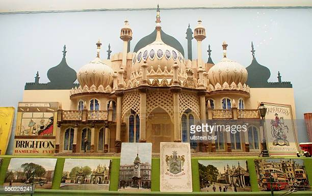 Model of the Brighton Pavilion Postcards Toy and model museum Brighton East Sussex England UK on