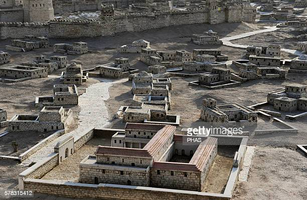 Model of the city of Jerusalem and the socalled Second Temple destroyed by the Romans in 70 AD Israel Scale 150