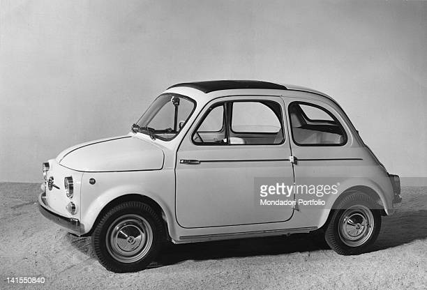 A model of the economy car Fiat 500 D Italy 1961