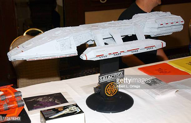 """Model of the Galactica during 2003 Galacticon Celebrating the 25th Anniversary of """"Battlestar Galactica"""" - Day Two at The Universal Sheraton Hotel in..."""