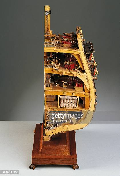 Model of the galleon, Vasa, built between 1626 and 1628, the midship section. Sweden, 17th century.