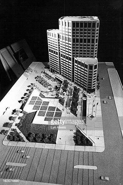 AUG 7 1981 Model of the office buildingbus terminal The builder tried to respond to the concerns of the community