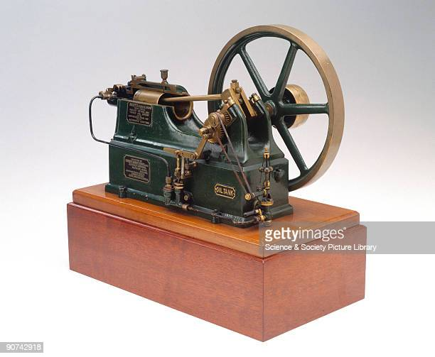 Model of the original crude oil automatic ignition engine designed by Herbert Akroyd Stuart Stuart was a mechanical engineer and manager of the...