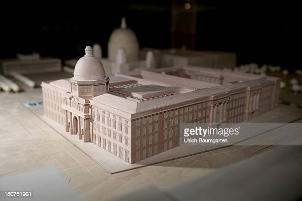 Model of the planned new building of the Berlin City Palace - Berliner Stadtschloss.