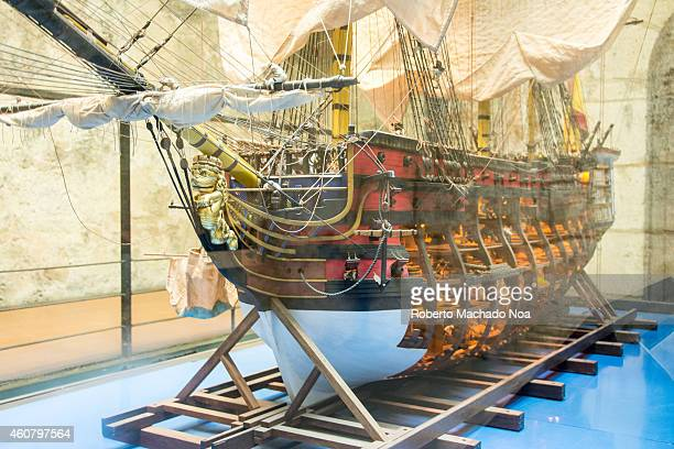 Model of the Santisima Trinidad Spanish war ship in its epoch was the largest ship of the Spanish army and it was lost in the battle of Trafalgar