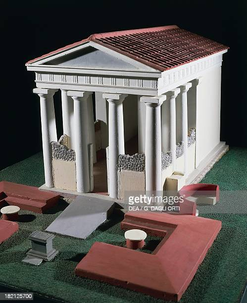 Model of the Temple of Bacchus from the Antiquarium Pompeii Campania Italy Roman Civilisation 1st century Pompei Antiquarium
