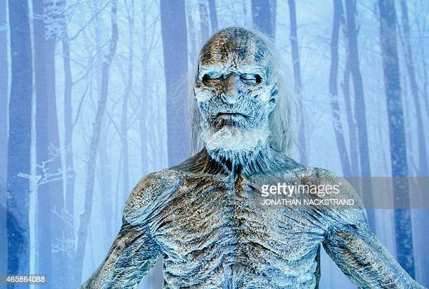 A model of the White Walker character from the HBO American fantasy drama television series Game of Thrones is displayed at the International Game of...