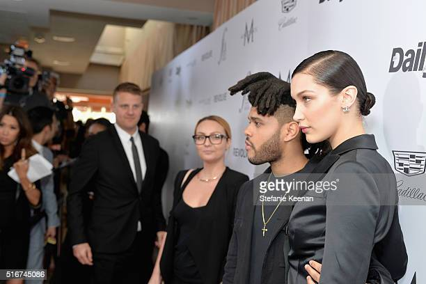 Model of the Year honoree Bella Hadid and musician Abel 'The Weeknd' Tesfaye attends The Daily Front Row 'Fashion Los Angeles Awards' 2016 at Sunset...