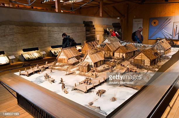 Model of Viking settlement at Birka.