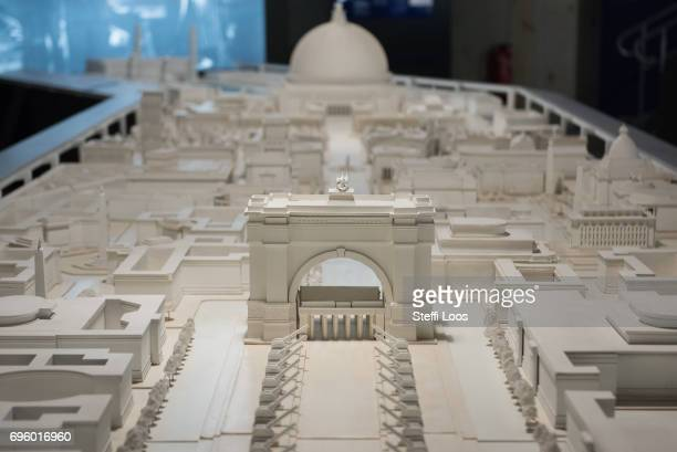 A model of Welthauptstadt Germania 'World Capital Germania' with was part of Adolf Hitler's vision for the future of Nazi Germany by architect Albert...