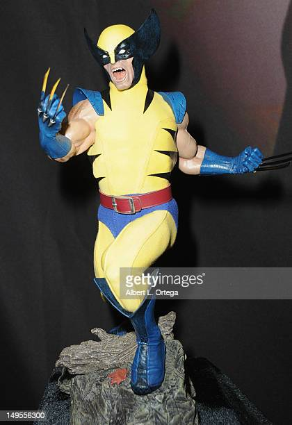 """Model of Wolverine from """"X-Men"""" at the Sideshow Collectibles booth at the 2012 Comic-Con International Preview Night held at San Diego Convention..."""