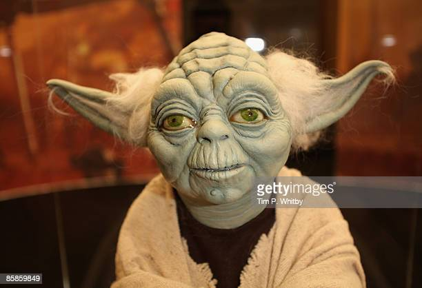A model of Yoda on display at The O2 Arena ahead of the World Premiere of 'Star Wars A Musical Journey' at The O2 Arena on April 8 2009 in London...
