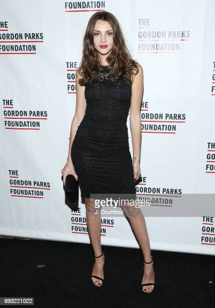 Model Olesya Senchenko attends the 2017 Gordon Parks Foundation Awards Gala at Cipriani 42nd Street on June 6 2017 in New York City