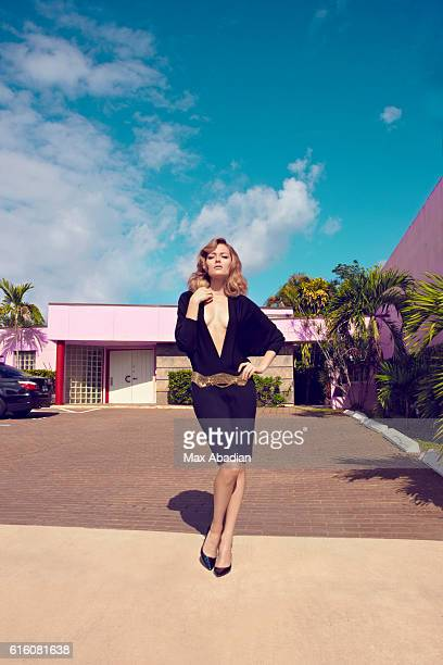 Model Olga Maliouk is photographed for a fashion story for Woman magazine on December 16, 2011 in Miami, Florida. PUBLISHED IMAGE.