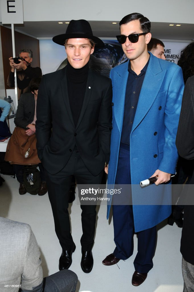 Front Row - London Collections: Men AW14 : News Photo