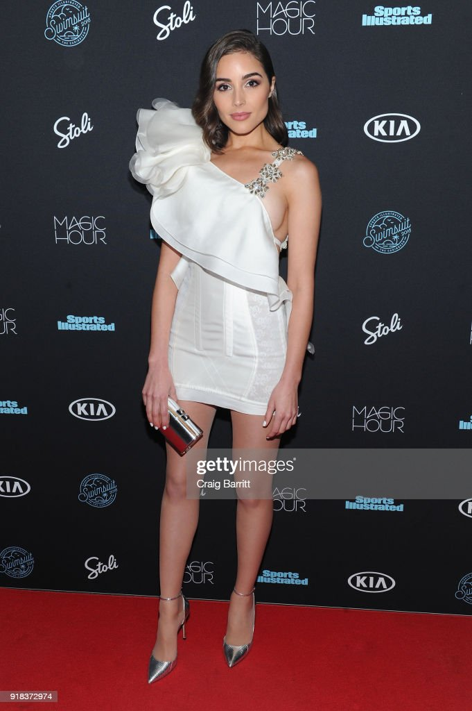 Model Olivia Culpo attends Sports Illustrated Swimsuit 2018 launch event at Magic Hour at Moxy Times Square on February 14, 2018 in New York City.
