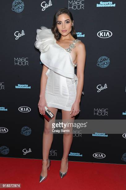 Model Olivia Culpo attends Sports Illustrated Swimsuit 2018 launch event at Magic Hour at Moxy Times Square on February 14 2018 in New York City