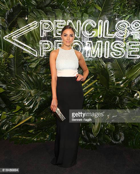 Model Olivia Culpo attends the 2016 Pencils of Promise Gala at Cipriani Wall Street on October 26 2016 in New York City