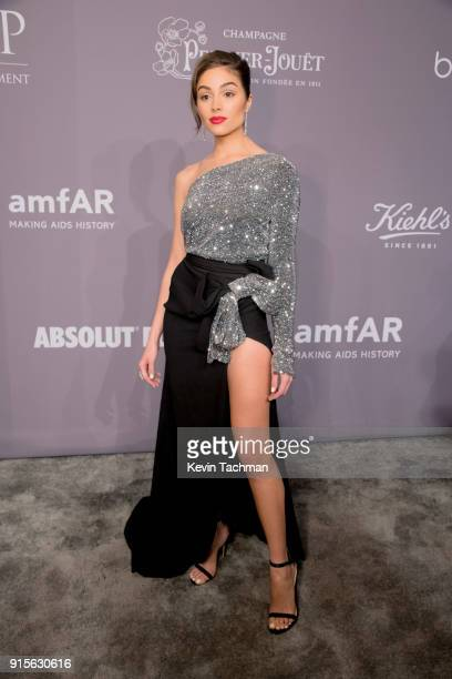 Model Olivia Culpo attends the 2018 amfAR Gala New York at Cipriani Wall Street on February 7 2018 in New York City