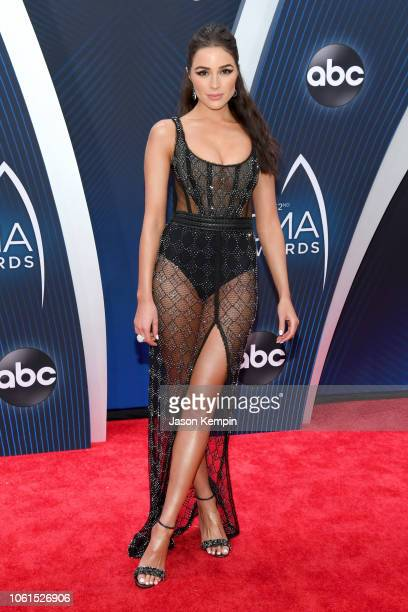 Model Olivia Culpo attends the 52nd annual CMA Awards at the Bridgestone Arena on November 14 2018 in Nashville Tennessee