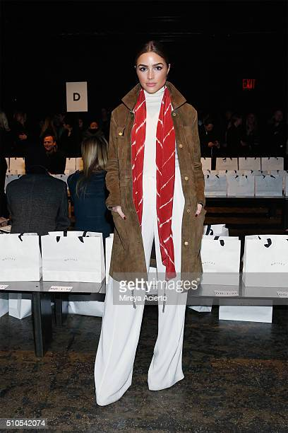Model Olivia Culpo attends the Maiyet fashion show during Fall 2016 New York Fashion Week at Cedar Lake on February 15 2016 in New York City