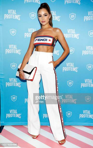 Model Olivia Culpo attends the Vital Proteins Launches Feed Your Beauty Popup Store in Soho NYC on September 5, 2018 in New York City.