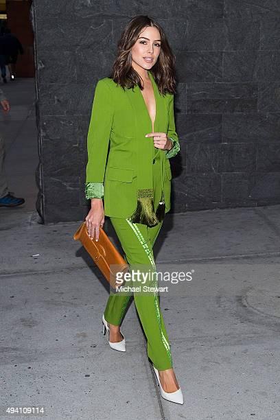 Model Olivia Culpo seen in Midtown on October 24 2015 in New York City