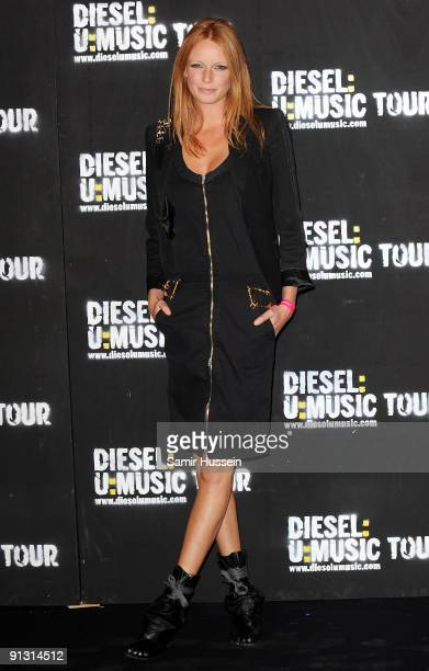 Model Olivia Inge arrives at the DieselUMusic World Tour Party held at the University of Westminster on October 1 2009 in London England