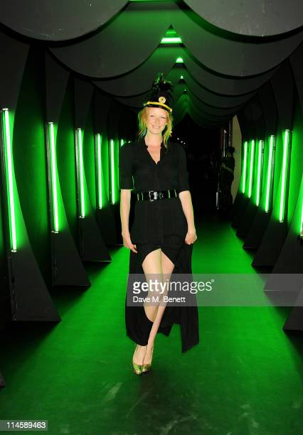 Model Olivia Inge attends the launch of Dom Perignon's Luminous Label at One Mayfair on May 24 2011 in London England