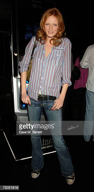 Model Olivia Inge attends the launch party of the new LG Shine mobile phone, at Club Cirque on February 7, 2007 in London, England.
