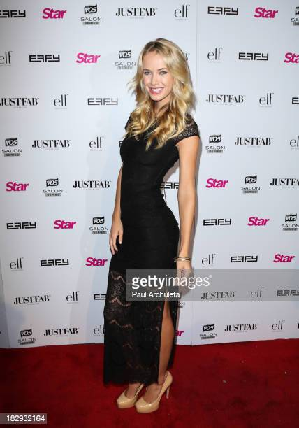 Model Olivia Jordan attends the STAR Magazine Scene Stealers party at the Tropicana Bar at The Hollywood Rooselvelt Hotel on October 1 2013 in...