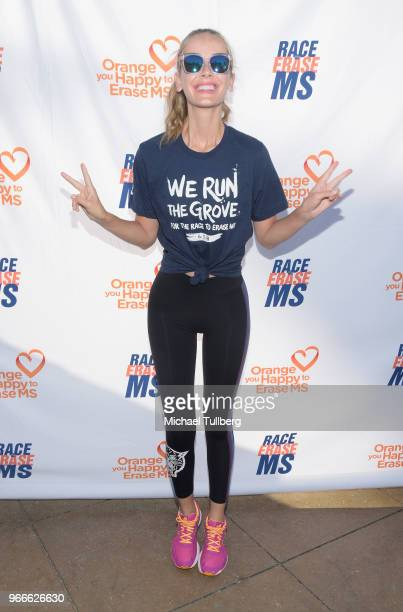 Model Olivia Jordan attends We Run The Grove for the Race To Erase MS at The Grove on June 3 2018 in Los Angeles California