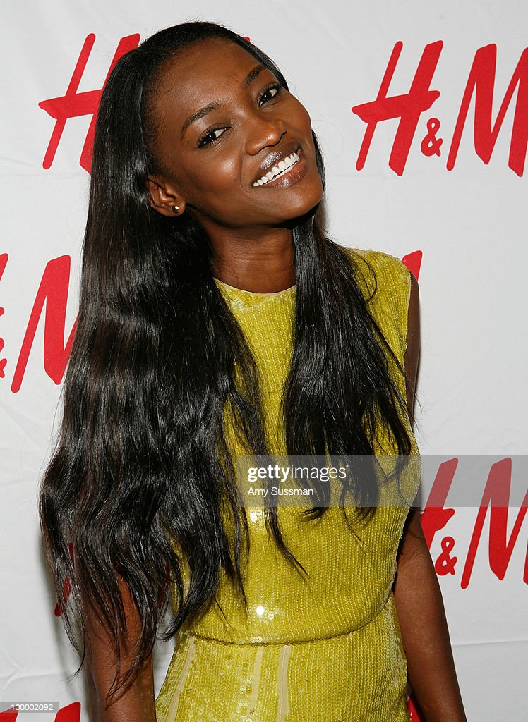 Model Oluchi attends H&M's launch of Fashion Against AIDS at H&M Fifth Avenue on May 19, 2010 in New York City.