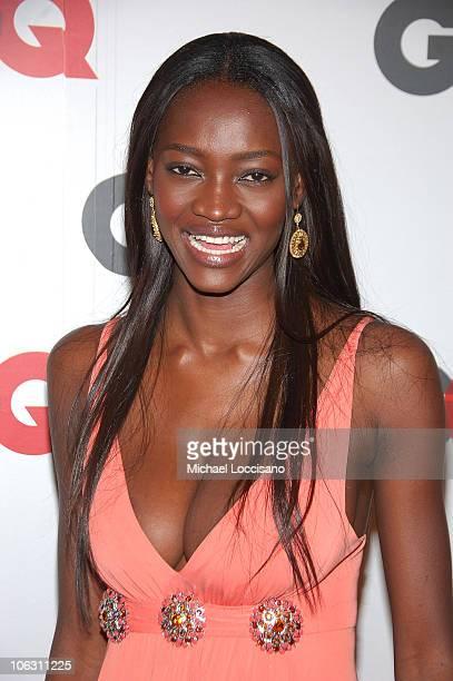 Model Oluchi Onweagba arrives to GQ's 50th Anniversary Celebration at Cedar Lake in New York City on September 18 2007
