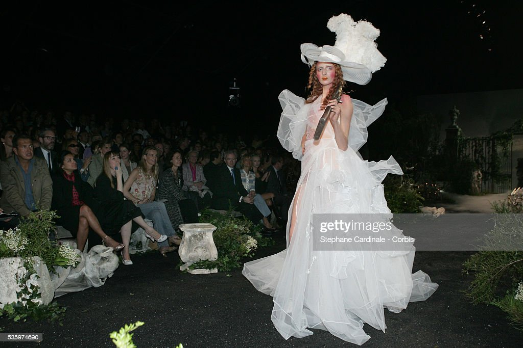 Model on the catwalk at the Christian Dior 2005-2006 Fall/Winter 'Haute Couture' fashion show.