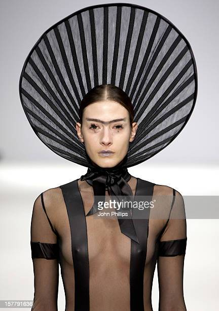 A Model On The Catwalk At The Pam Hogg Fashion Show Held At The Vauxhall Fashion Scout Venue At Freemason'S Hall As Part Of London Fashion Week