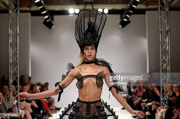 A Model On The Catwalk At The Pam Hogg Fashion Show Held At The Vauxhall Fashion Scout Venue In Freemasons' Hall As Part Of London Fashion Week