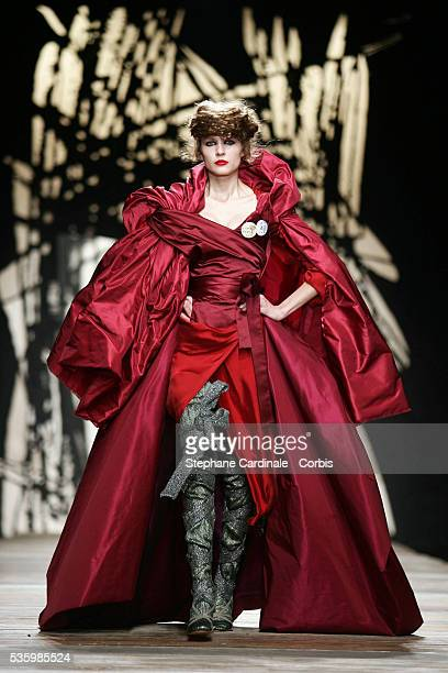 A model on the catwalk at the Vivienne Westwood readytowear FallWinter 20062007 fashion collection