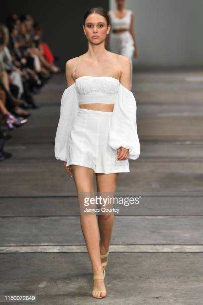 A model on the catwalk during the Resort '20 High Summer Collections show during day 2 of MercedesBenz Fashion Week Australia Weekend Edition at...