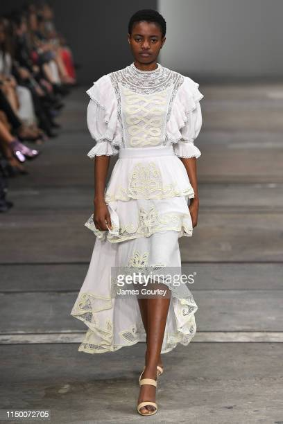 Model on the catwalk during the Resort '20 High Summer Collections show, during day 2 of Mercedes-Benz Fashion Week Australia - Weekend Edition at...