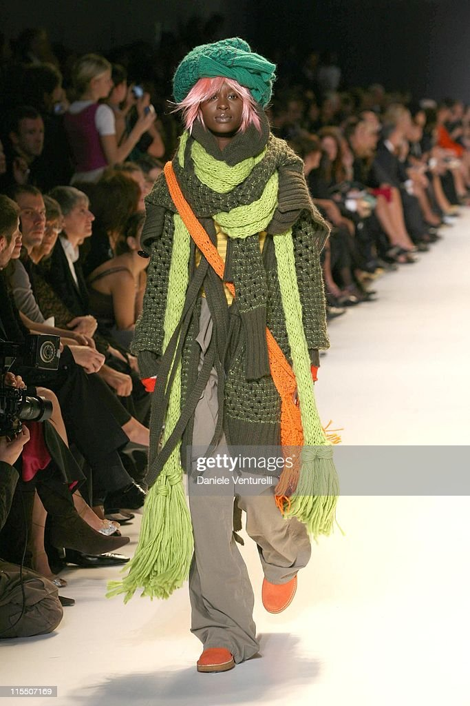 63fe0a5ae48f Model on the catwalk during United Colors of Benetton 40th... News ...