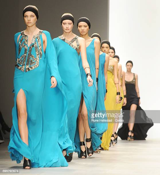 Model on the runway at Amanda Wakeley's Spring/Summer 2012 fashion show at London Fashion Week
