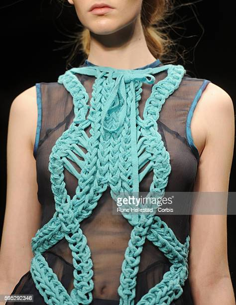 Model on the runway at Bora Aksu's Spring/Summer 2012 fashion show at London Fashion Week