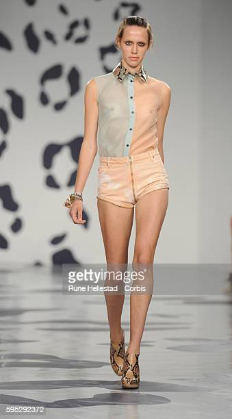 Model on the runway at House Of Holland's Spring/Summer 2012 fashion show at London Fashion Week