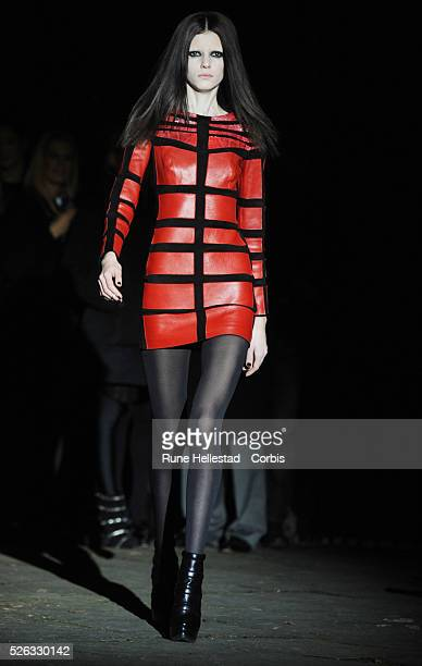Model on the runway at Kristian Aadnevik's Autumn/Winter 2011 fashion show at London Fashion Week