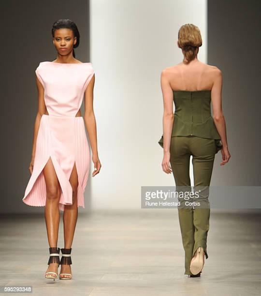 Model on the runway at Osman's Spring/Summer 2012 fashion show at London Fashion Week